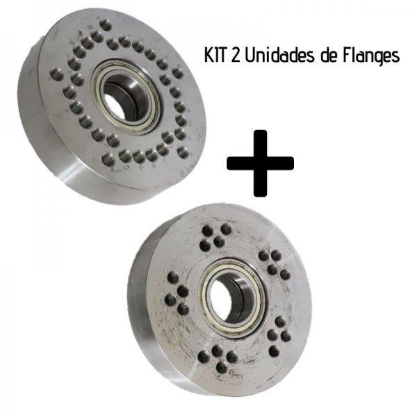 Kit com 2 Flanges - Para Ficção de Rodas
