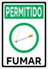 Placa Permitido Fumar 14x20 ou 20x28