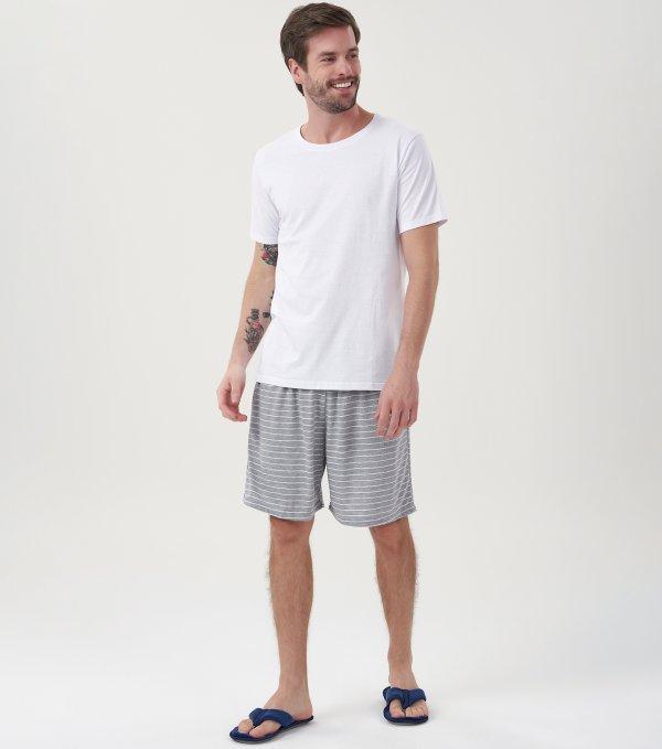 Pijama Manga Curta - 40583