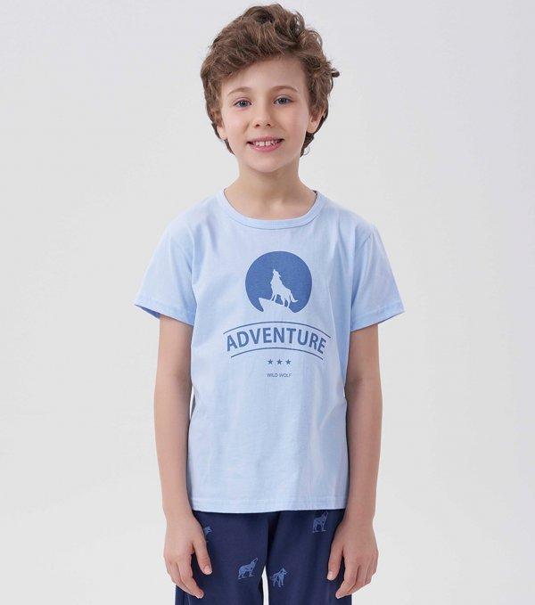 Pijama Manga Curta Infantil - 40631