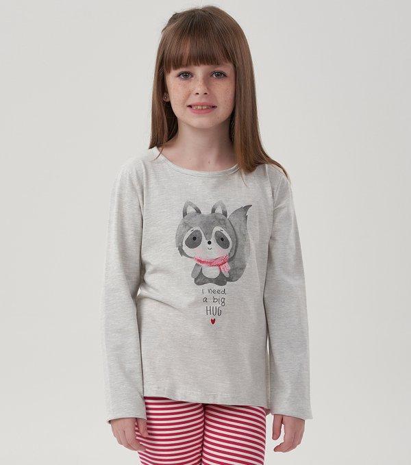 Pijama Manga Longa com Legging Infantil - 40622