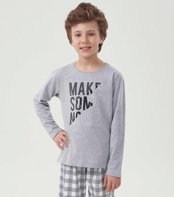 Pijama Manga Longa Infantil - 40602