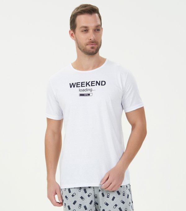 Pijama Manga Curta - 40753