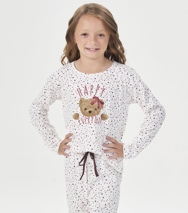 Pijama Manga Longa Infantil - 40863