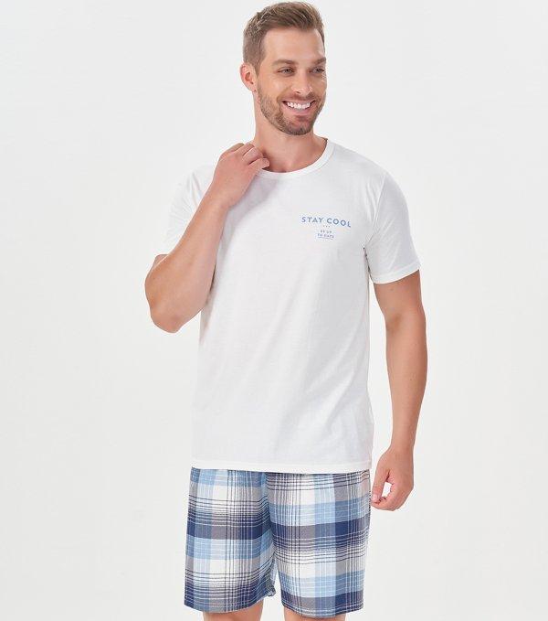 Pijama Manga Curta - 40882