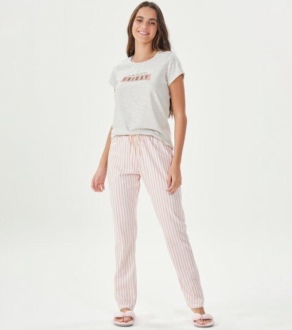 Pijama Manga Curta - 41001