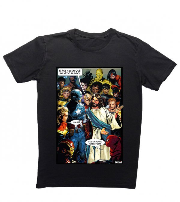 CAMISETA REGULAR - JESUS HERO BY BEZALEL