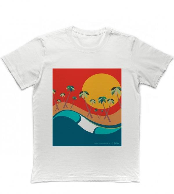 CAMISETA SURF REGULAR - ONDAS DO NORDESTE BY TOM VEIGA