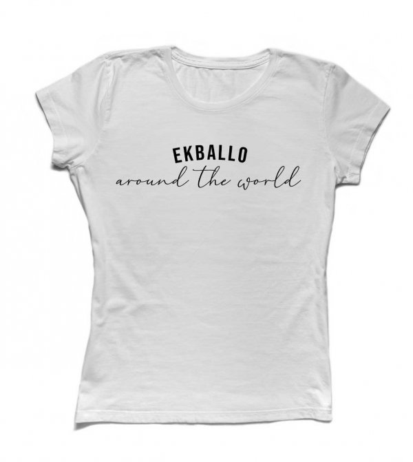 CAMISETA BABYLOOK - AROUND THE WORLD BY EKBALLO