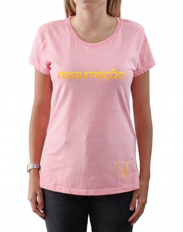 T-Shirt Babylook -  Ele vive! - Ressurreição