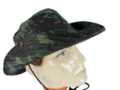 Chapéu com aba estilo australiano modelo camuflado com e sem proteção para  o pescoço  53b40df15e9