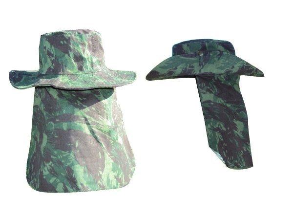 Chapéu com aba estilo australiano modelo camuflado com e sem proteção para  o pescoço  602da9ab243