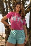 CONJUNTO FEMININO SHORTS ALICE + T-SHIRT MARINA