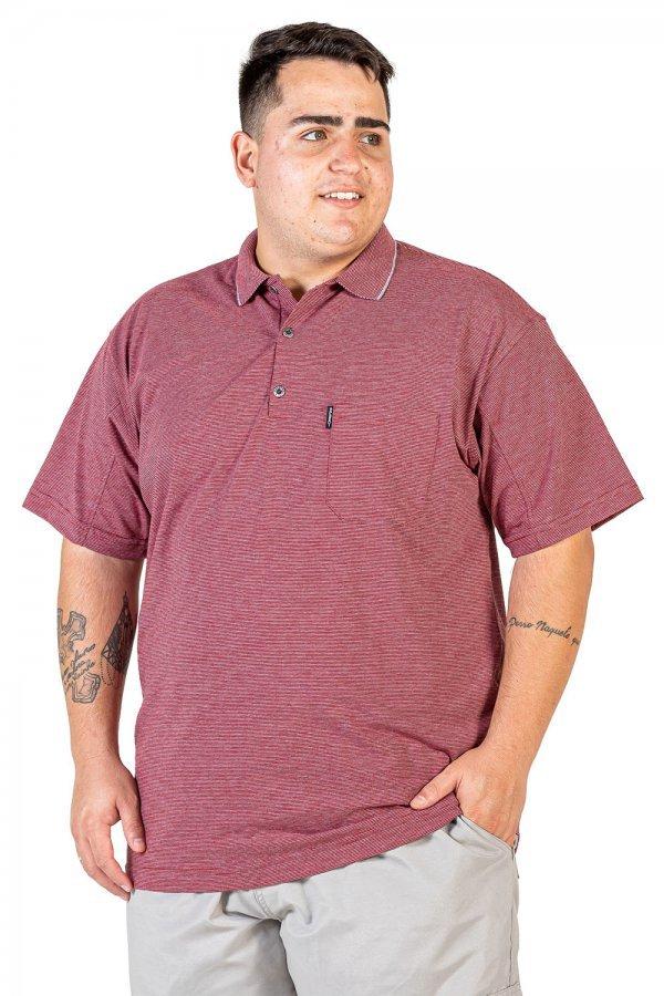 Camisa Polo Listrada Plus Size