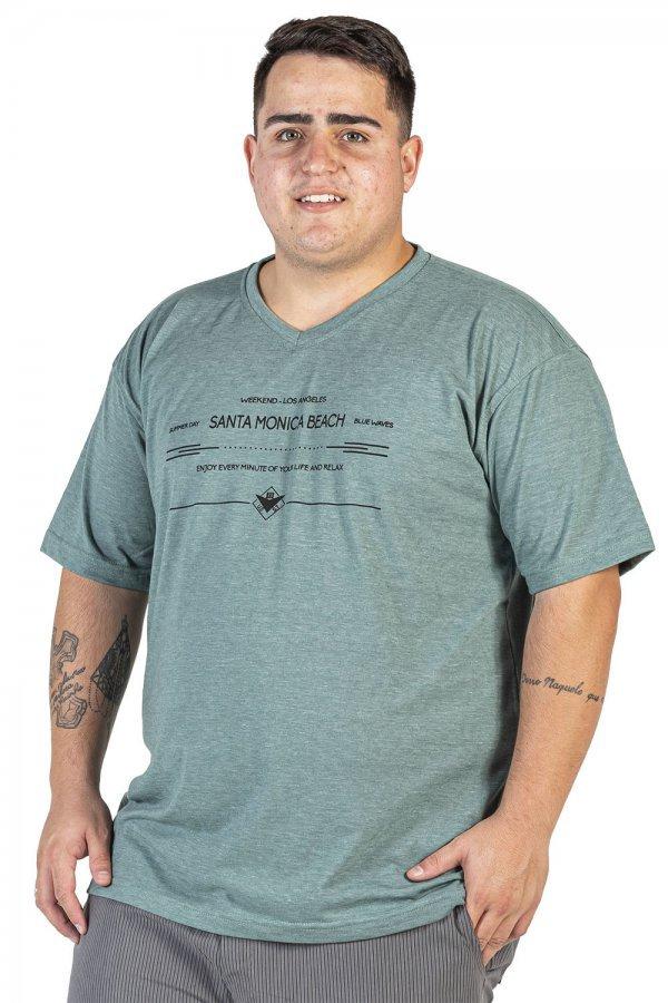 Camiseta Degote V Plus Size