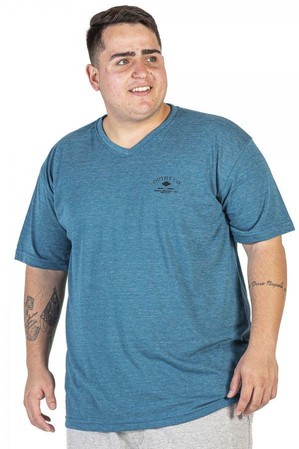 Camiseta Degote V Plus Size +