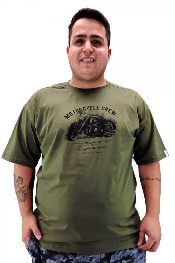 Camiseta tradicional estampada Plus Size