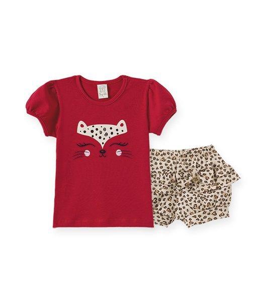 Conjunto Infantil Feminino Camiseta + Short