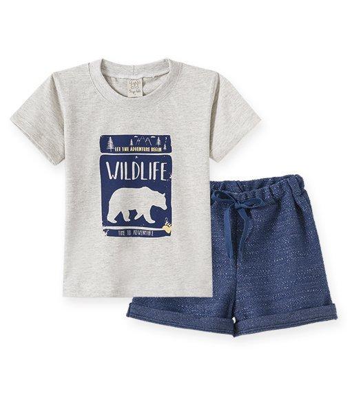 Conjunto Infantil Masculino Camiseta + Shorts