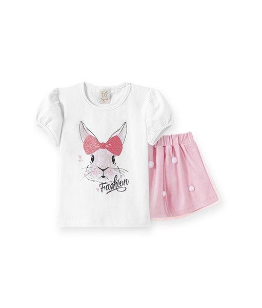 Conjunto Infantil Feminino Camiseta + Saia
