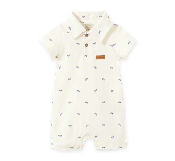 Macacão Curto Gola Polo Bebê Masculino