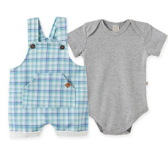 Conjunto Bebê Masculino - Body + Jardineira
