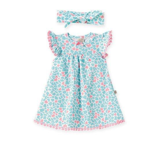 Body Vestido Bebê Feminino com Faixa de Cabelo