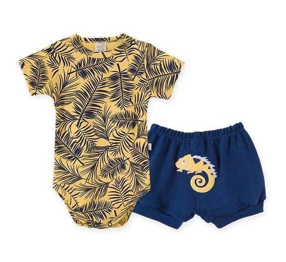 Conjunto Bebê Masculino Body + Short