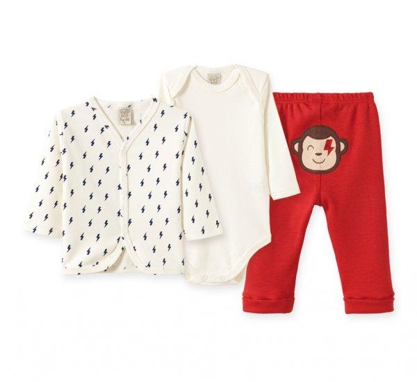 Conjunto Bebê Masculino Body + Casaco + Calça