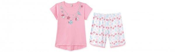 Pijama Adulto Feminino Camiseta + Bermuda