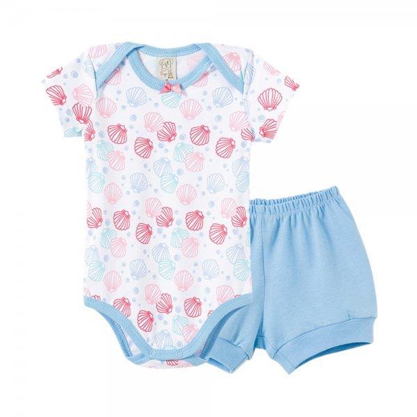 Pijama Bebê Feminino Body + Short