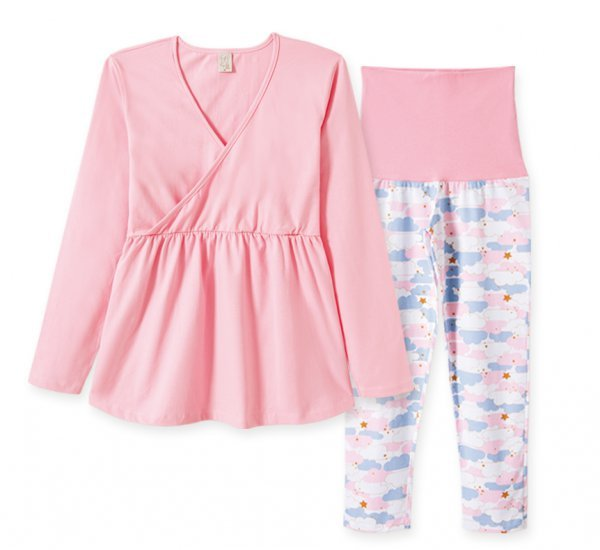 Pijama Adulto Feminino Gestante Blusa + Calça