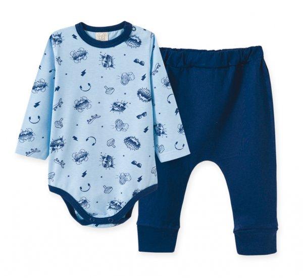 Pijama Bebê Masculino Body + Calça