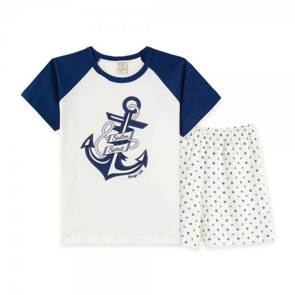 Pijama Infantil Masculino Camiseta + Bermuda