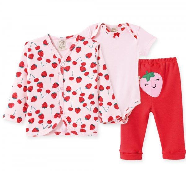 Conjunto Bebê Feminino Body + Calça + Casaco