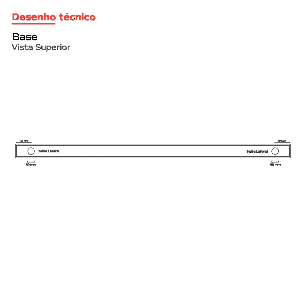 Ralo Linear Inox 2 saídas 110 cm Multimaster