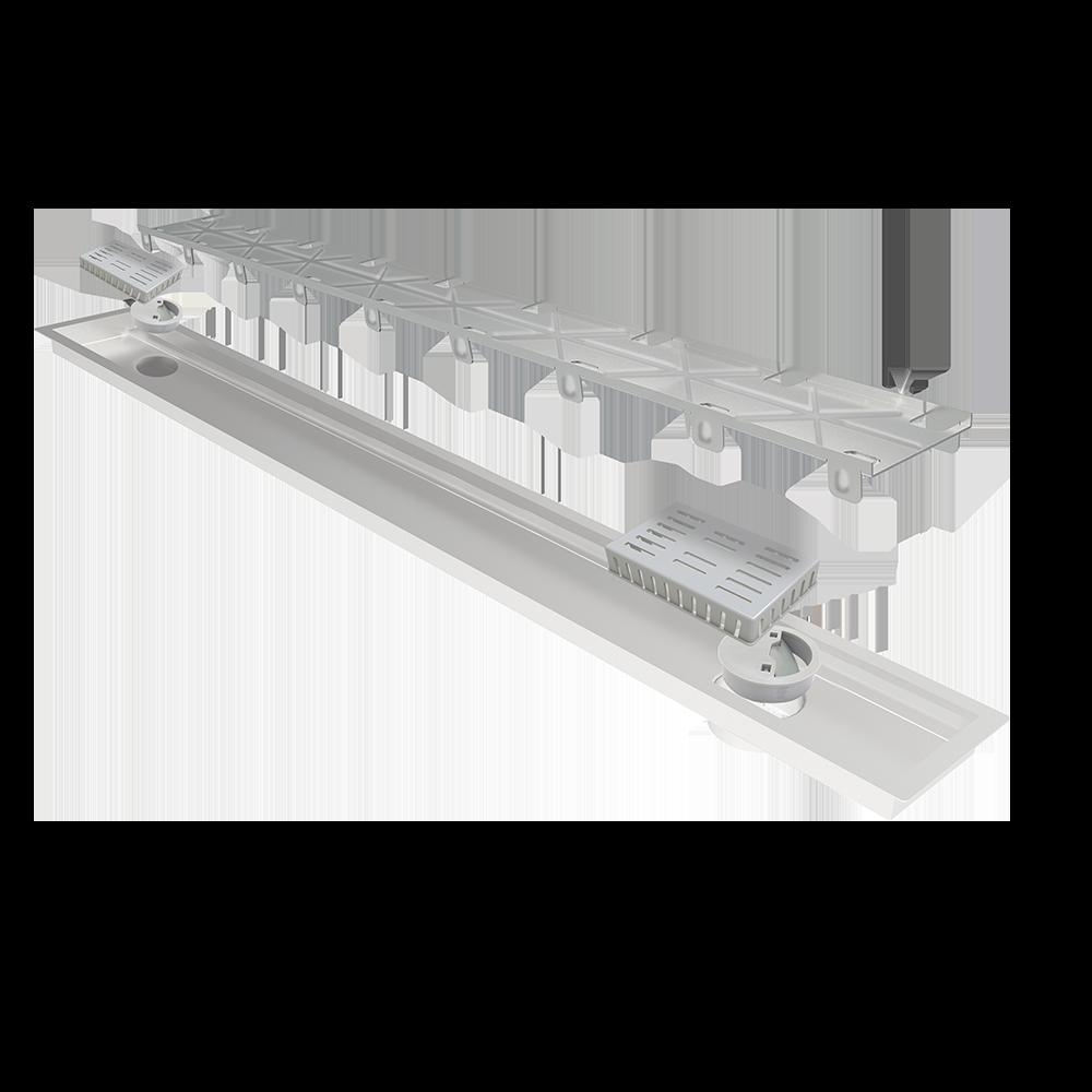 Ralo Linear Oculto 2 saídas 130 cm Multimaster