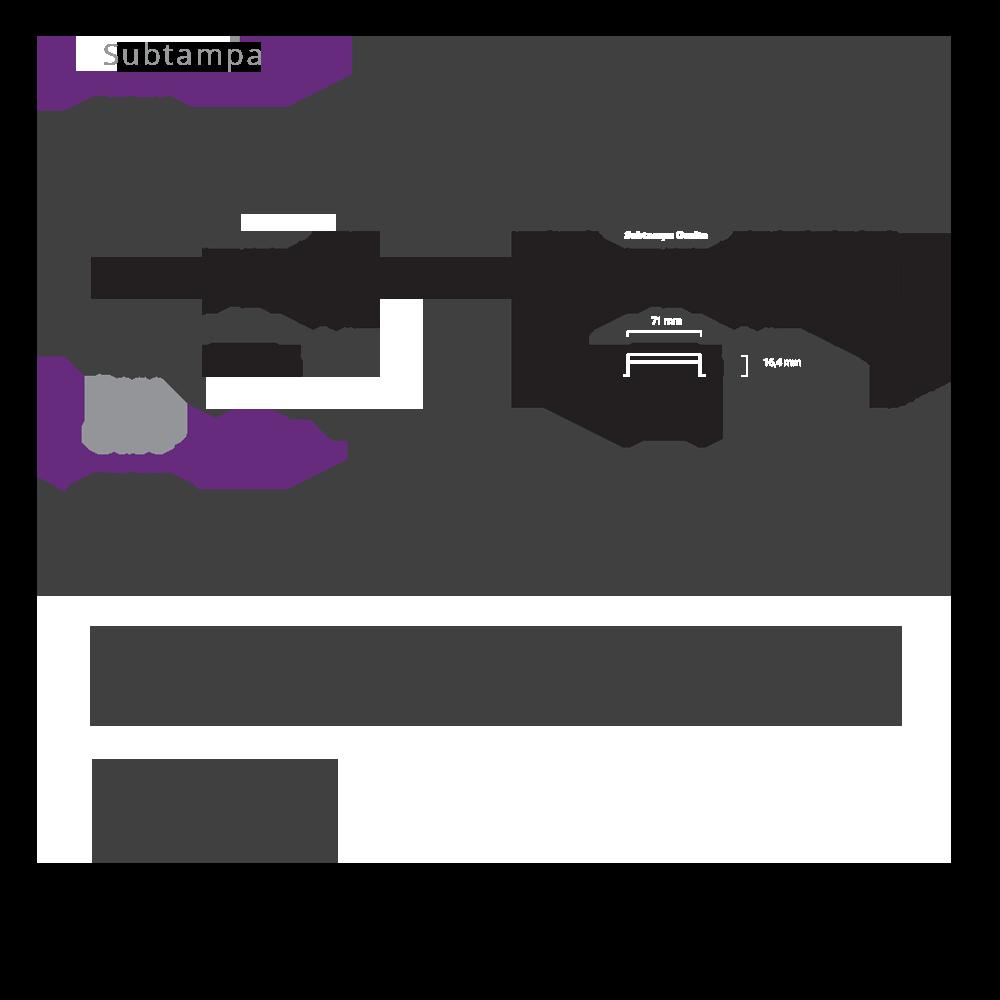 Ralo Linear Oculto 2 saídas 140 cm Multimaster