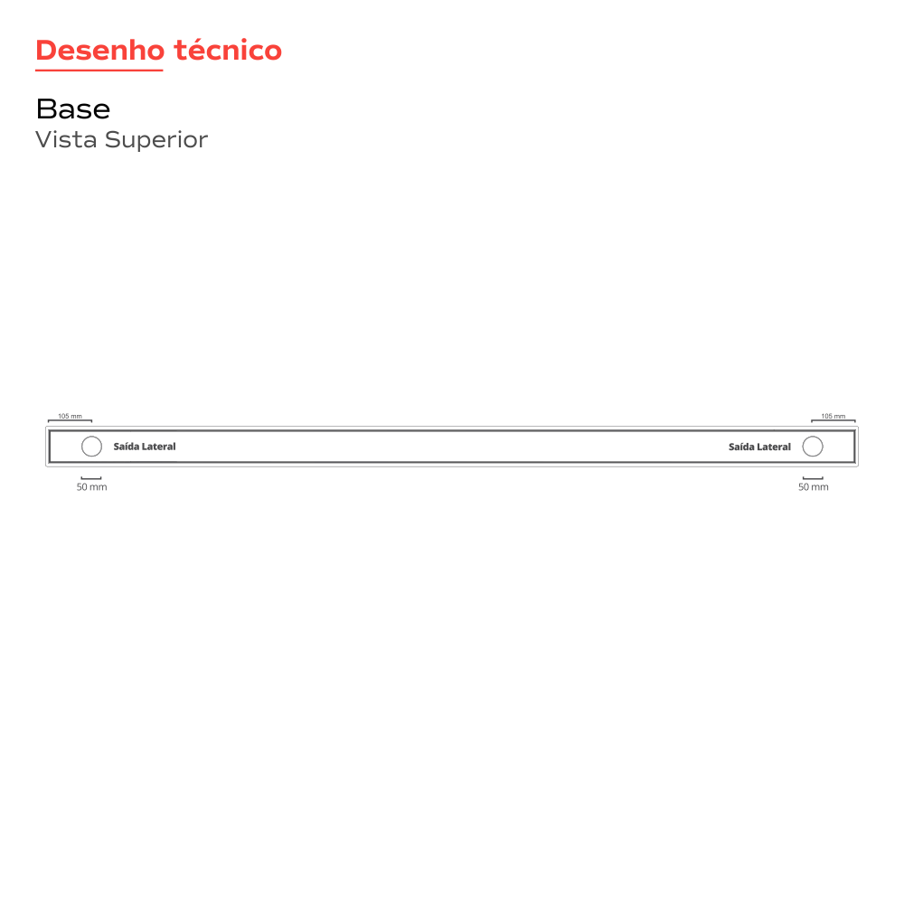 Oculto 2 saídas 160cm Multimaster