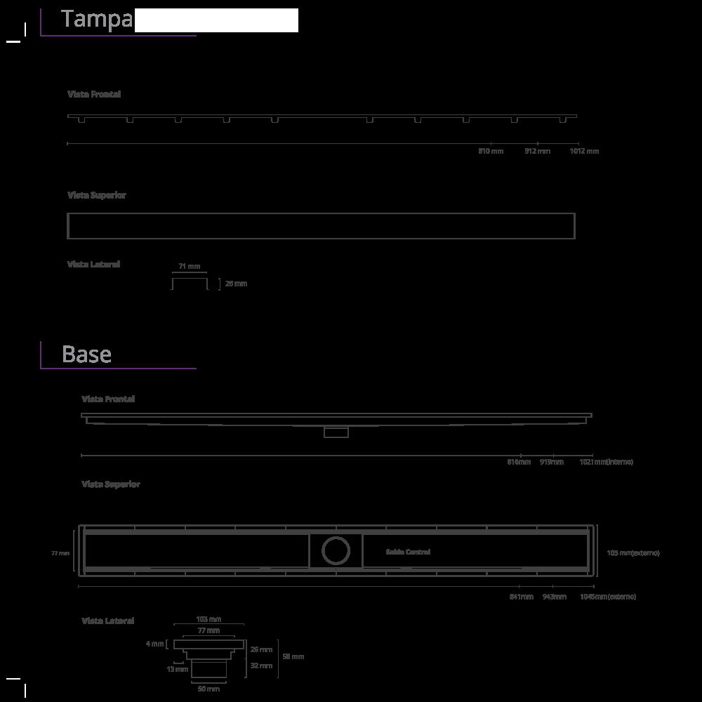 Ralo Linear Inox 100 cm Royal