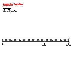 Ralo Linear Inox Vazado 130 cm  Base PVC Infinity Slim