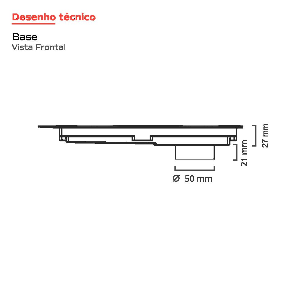 Ralo Linear Novii 25 cm Cromado