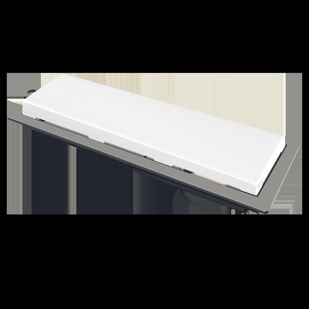 Ralo Linear Novii 25 cm Branco