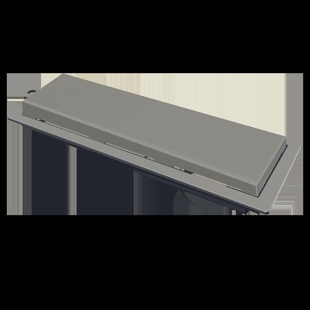 Ralo Linear 25 cm Cinza