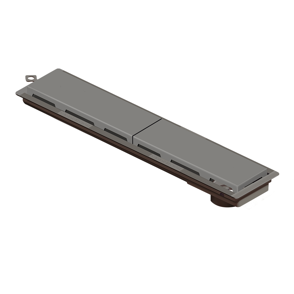 Ralo Linear 50 cm s/ Sifão Cinza