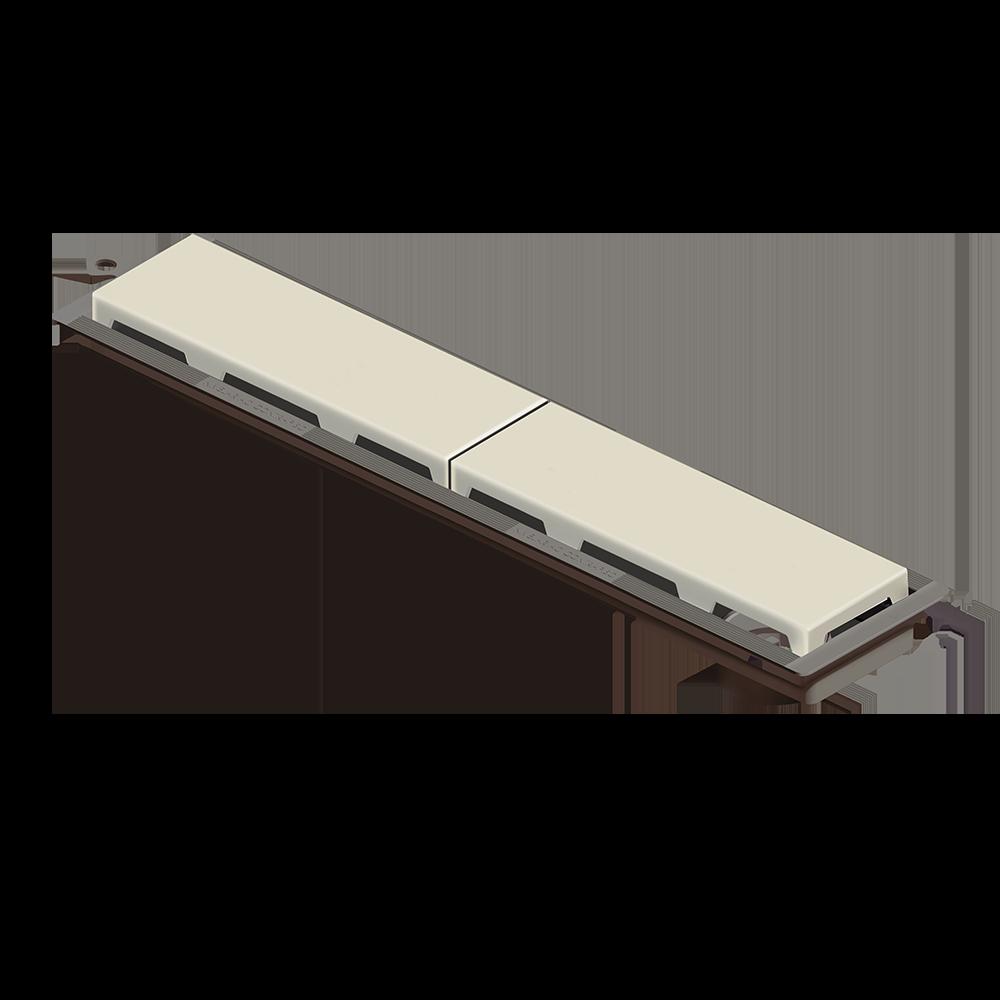 Ralo Linear 50 cm s/ Sifão Bege