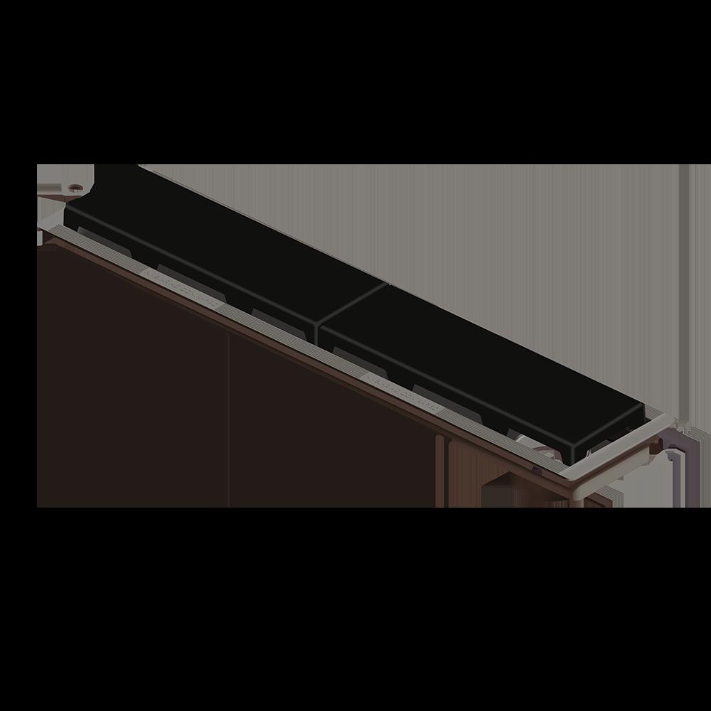 Ralo Linear 50 cm s/ Sifão Preto