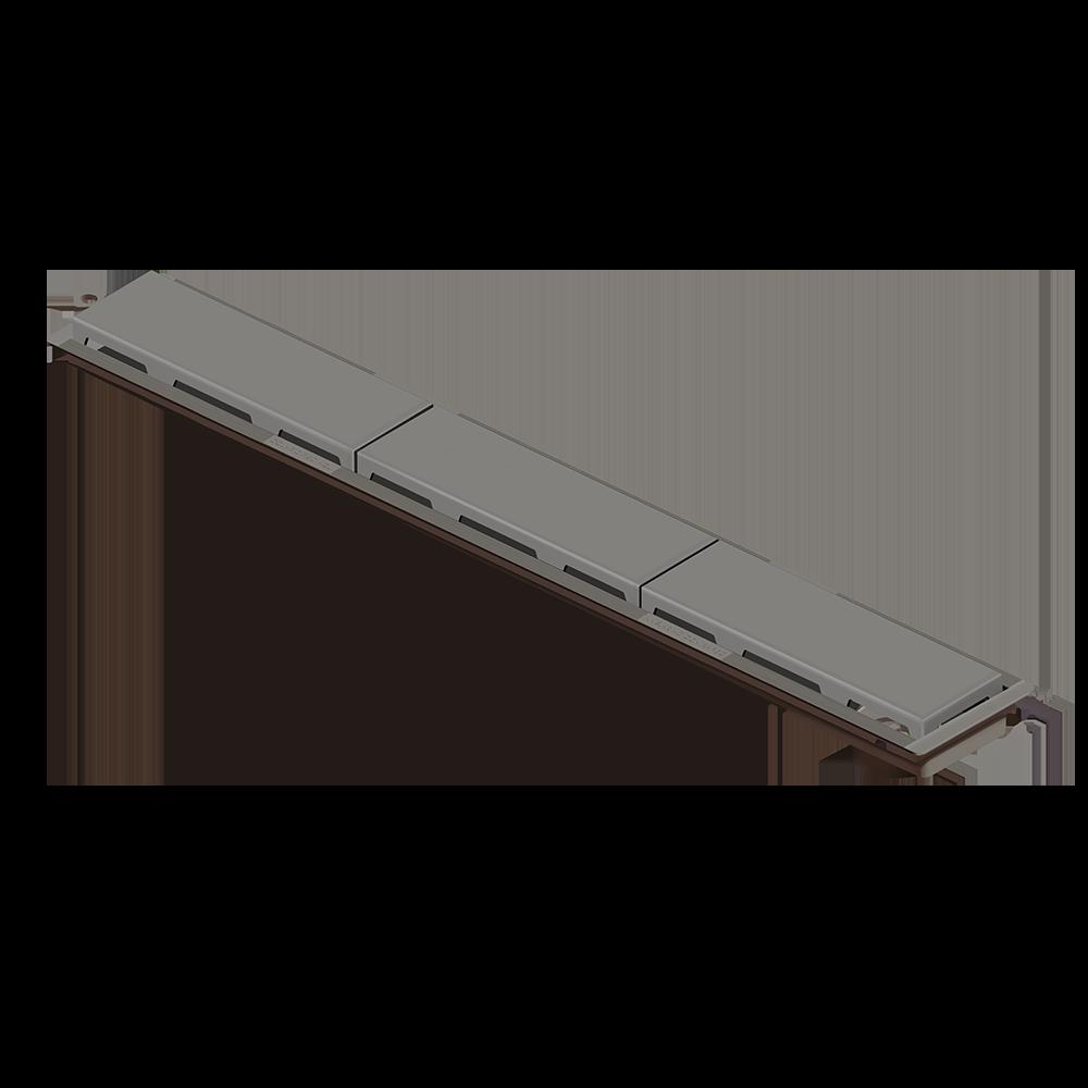 Ralo Linear 75 cm s/ Sifão Cinza
