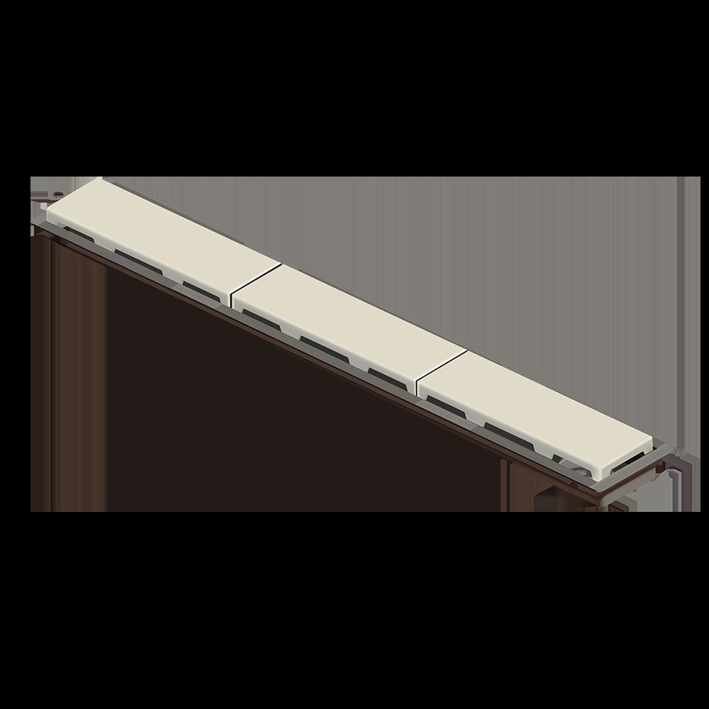 Ralo Linear Novii 75 cm sem Sifão Bege