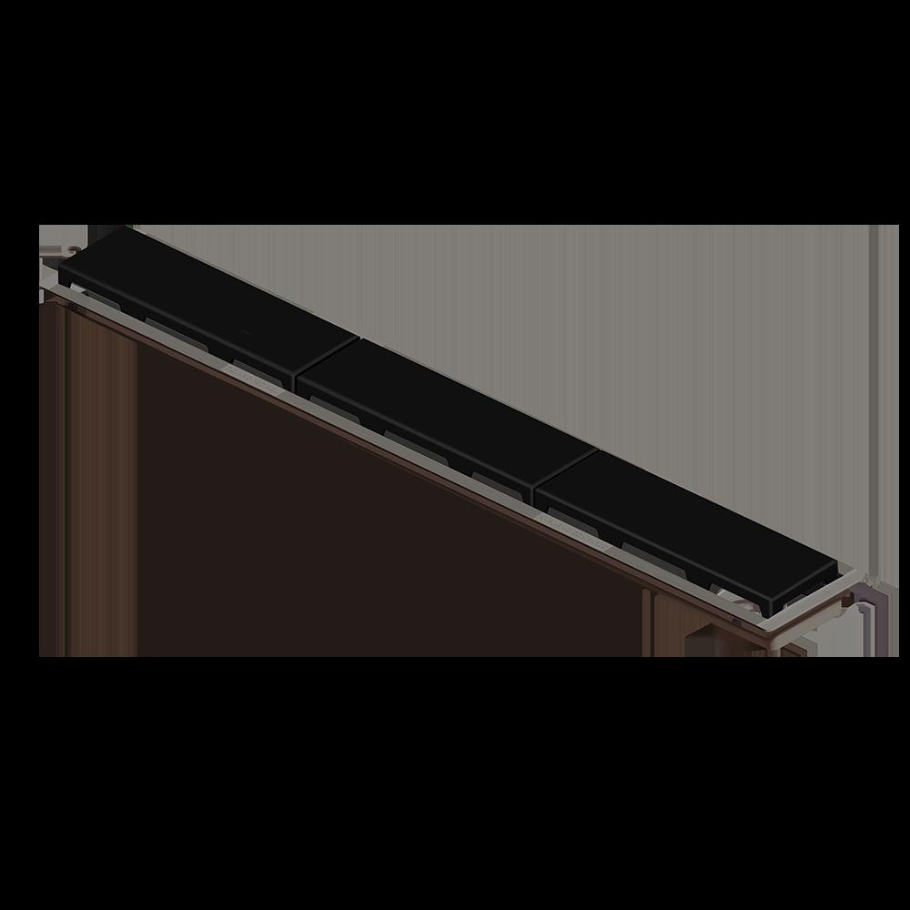 Ralo Linear 75 cm s/ Sifão Preto